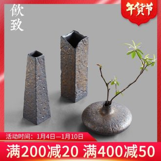 Ultimately responds to | gold up decorative vase Japanese zen retro floral outraged ceramic flowers inserted tea tea table furnishing articles