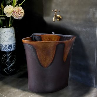 Ling yu rust grain ceramic mop mop mop pool pool retro art mop pool balcony toilet basin sink