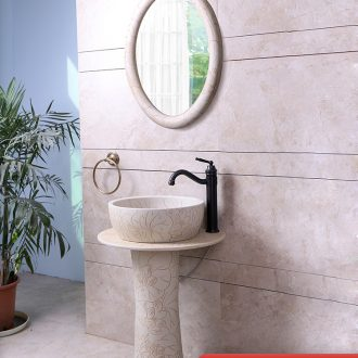 Basin of wash one creative home pillar Basin floor balcony sink Basin bathroom ceramic art for wash Basin