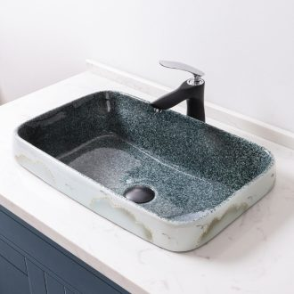 Taichung basin half embedded oblong and Mosaic lavabo household ceramics semi basin bathroom basin to single matte enrolled