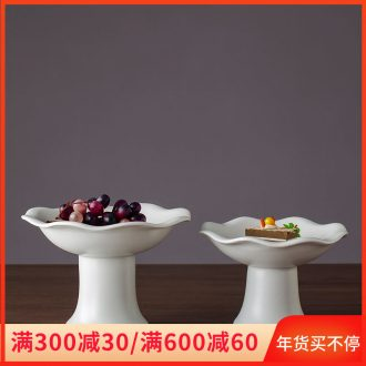 Ceramic Ceramic bowl sitting room tea table table furnishing articles home act the role ofing is tasted the fruit bowl compote of fruit snacks