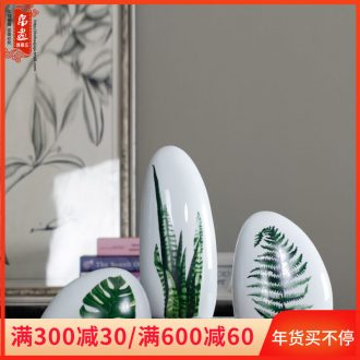 The family decorates a small place ins creative lovely jingdezhen ceramic micro landscape contracted TV ark, desktop decoration