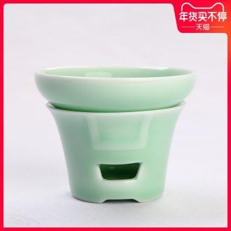 Creative longquan celadon) frame in hot tea strainer ceramic kung fu tea sets tea strainer mesh oven