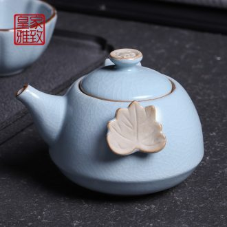 Royal refined porcelain shamrock hand grasp pot of ceramic tea set kung fu little teapot your up slicing can be a teapot