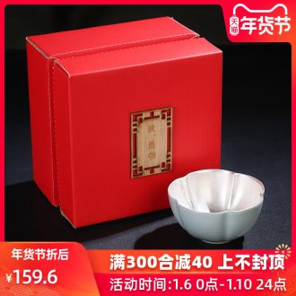 Taste your up porcelain remit silver light cup tea tasted silver silver gilding, ceramic individual sample tea cup masters cup gift tea set