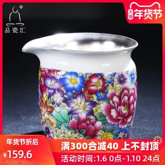 The Product manual colored enamel porcelain remit tasted silver gilding ceramic fair keller of tea sea kung fu tea accessories and cup device and a cup of tea