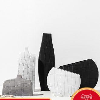 Example room household soft adornment Nordic style living room art ceramic vase geometry furnishing articles flower arrangement