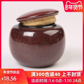 The Product oil droplets temmoku glaze ceramic porcelain remit caddy fixings moisture preservation container seal pot tea, black tea, green tea