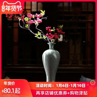 Flower implement soft outfit antique vase zen ceramics material Oriental Flower arranging traditional classical Flower vases, celadon