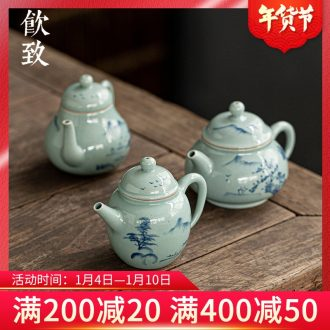 Ultimately responds to the teapot antique hand - made ceramic teapot single pot of kung fu trumpet with mini filter tea set a single one person