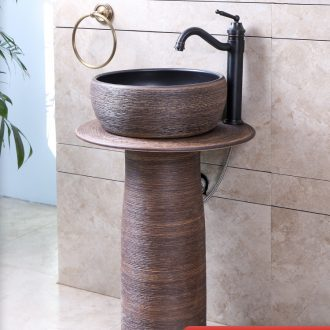 Courtyard is suing independence the sink basin of pillar type bathroom small pillar lavabo ceramic is suing the pool