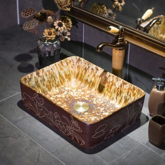 Jingdezhen up art basin on its European ceramic lavatory rectangular basin on the sink