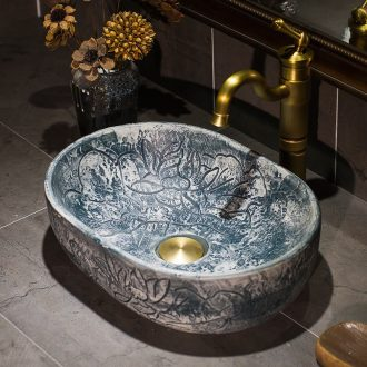 Jingdezhen ceramic engraving thin expressions using toilet stage basin sink basin, art basin lavatory basin