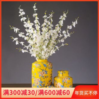 Jingdezhen ceramic vase furnishing articles storage tank home desktop flower arrangement sitting room adornment modern reduction caddy fixings