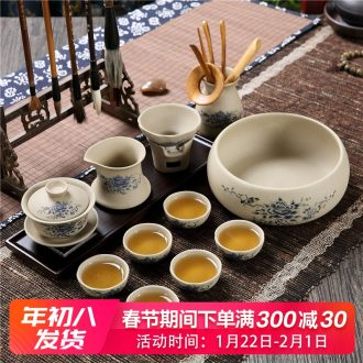 The Home office coarse some ceramic porcelain kunfu tea tea set cups fashioned the tureen tea with restoring ancient ways