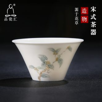 The Product porcelain sink song tea device hat cup ceramic masters cup bowl with small single cup with white porcelain tea cups