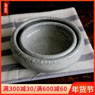 Jingdezhen ceramics porch is the key to the receive furnishing articles start of new Chinese style writing brush washer tea table sitting room aquarium ashtray