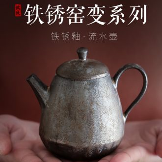 Ultimately responds to gold ceramic teapot trumpet tea ware coarse pottery kung fu tea set single pot of variable belt filter cooking pot