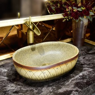 Antique art basin on its thin piece of idea gourd shape the lavatory toilet ceramic basin of wash one household