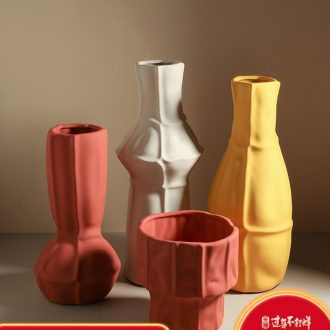 Nordic contracted style, creative home furnishing articles contracted sitting room ceramic vase household adornment dried flower vase