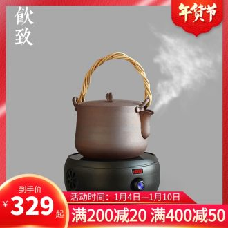 Ultimately responds to coarse pottery tea boiling tea ware ceramic black large capacity electric teapot TaoLu pot of boiling water to girder restoring ancient ways