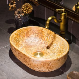 American art stage basin ceramic lavabo lavatory toilet oval sink basin household contracted