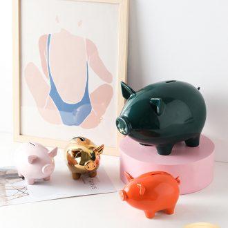 Nordic ceramic piggy coin 365 days piggy bank, lovely children not large capacity domestic girl 's gift