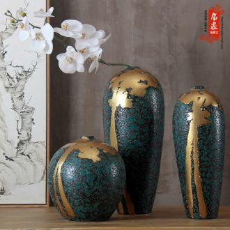 Manual see colour ceramic flowers, dried flowers, jingdezhen up up flower arrangement of modern living room hotel villa furnishing articles