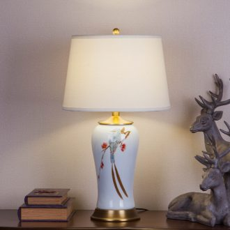 Jingdezhen hand - made ceramic desk lamp of new Chinese style villa clubhouse sitting room decoration to the hotel engineering lamps and lanterns of bedroom the head of a bed