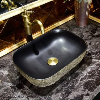 Ceramic lavabo European stage basin oval lavatory art basin of the basin that wash a face of household toilet water basin