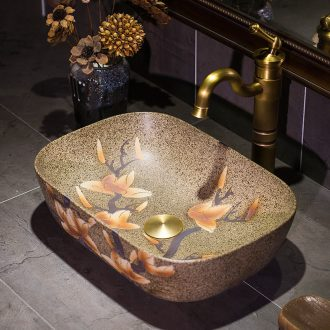 Ceramic art stage basin basin small toilet lavabo, oval marble sinks basin is contracted