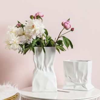 Example room art adornment Nordic contracted household vase furnishing articles sitting room hydroponic flower implement ceramic flower arranging flowers