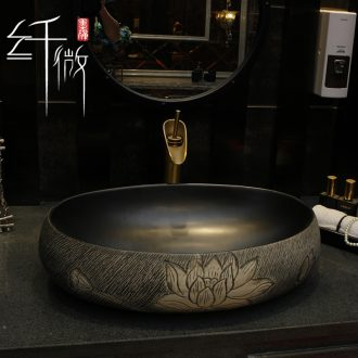 Happens of archaize ceramic stage basin of the oval art basin sink basin lavatory basin of wash one new Chinese style