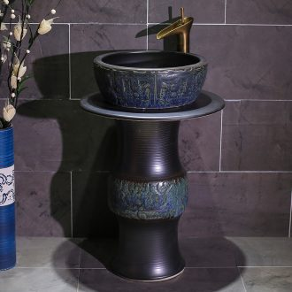Jingdezhen art restoring ancient ways the sink ceramic floor toilet basin bathroom pond lavatory the post