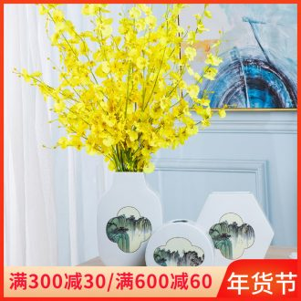 Ceramic vase household sitting room adornment of new Chinese style table furnishing articles Nordic light floor key-2 luxury arranging flowers, dried flowers adornment