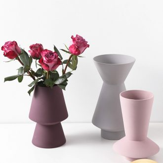 I and contracted light key-2 luxury furnishing articles designer morandi ceramic vase craft art of flower arranging soft outfit decoration
