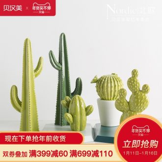 Ins wind Nordic cactus creative furnishing articles contracted sitting room bedroom desktop furnishing articles ceramic home decorations