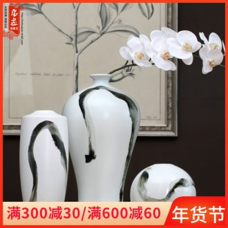 The New Chinese vase of jingdezhen ceramic ink home living room TV cabinet decoration dry flower arranging flowers adornment furnishing articles