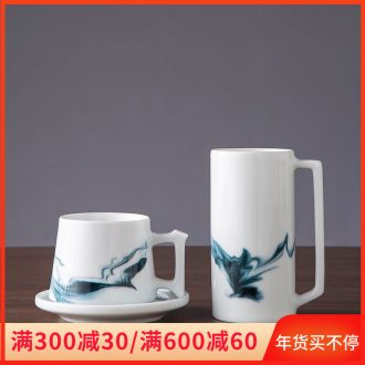 Jingdezhen ceramic cup is placed high temperature ink home sitting room tea room decoration decoration with coffee keller