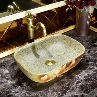 Art stage basin rectangle American ceramic lavatory basin European toilet stage basin that wash a face to wash your hands