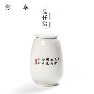 Shadow at white porcelain tea pot ceramic seal storage tank trumpet installed YPQ tea pot black tea tea storehouse