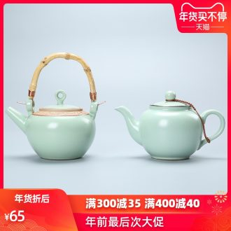 Passes on technique the up which can raise your up teapot large girder on kung fu tea set ceramic POTS, stainless steel filter