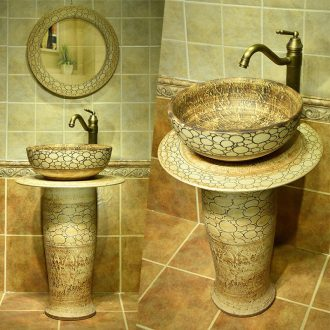 Ceramic basin toilet lavabo mini floor pillar pillar one Ceramic face basin sinks