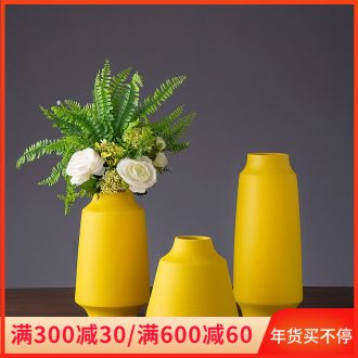 Ceramic vase Nordic MianRuan table decorations TV ark, dry flower arranging flowers is the sitting room porch place between example