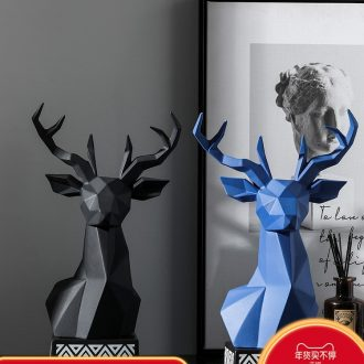 The Nordic idea ceramic deer head light key-2 luxury furnishing articles household act The role ofing is tasted example room living room TV ark, desktop soft decoration