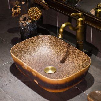 Archaize creative hand washing dish Chinese style restoring ancient ways is thin ceramic toilet stage basin sinks household square art