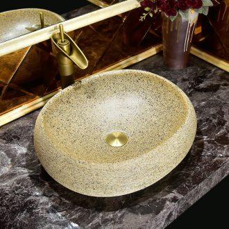 On the ceramic basin bathroom toilet wash one round face basin European art lavatory basin of household
