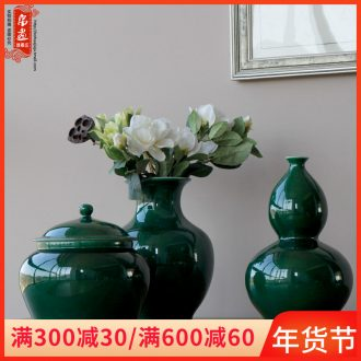 Jingdezhen ceramic furnishing articles of Chinese style is contracted fashion, green decoration household decorates sitting room porch desk study