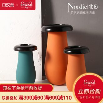 Boreal Europe style morandi creative flower implement I and contracted sitting room ceramic frosted glass vases furnishing articles example room decoration