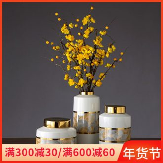 Jingdezhen ceramic vase furnishing articles flower arranging I and contracted household dried flowers sitting room adornment porcelain vases